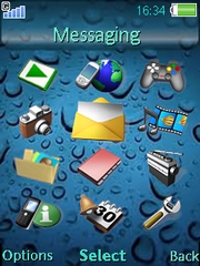 Drops with sound theme for Sony Ericsson W910