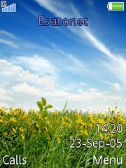 Nature Beauty theme for Sony Ericsson S500 / S500i
