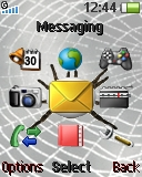Animated Spider theme for Sony Ericsson R306