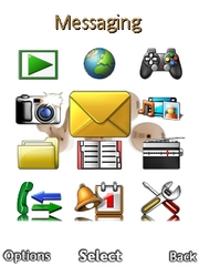 Grouped Desktop theme for Sony Ericsson Cedar