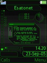 Bit info theme for Sony Ericsson K810 / K810i