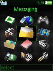 Bit info theme for Sony Ericsson K790 / K790i