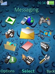 Drops theme for Sony Ericsson Z750