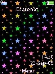 Rainbow Stars W910  theme