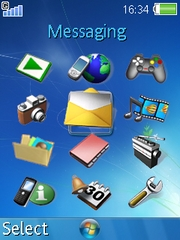 Windows 7 theme for Sony Ericsson K800