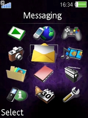 Everpurple theme for Sony Ericsson S500 / S500i
