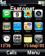 Iphone W350  theme