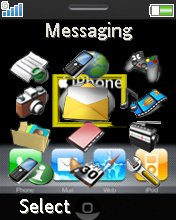 Iphone W610  theme