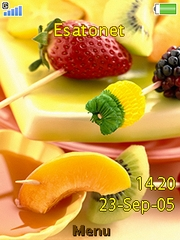 Fruit mix theme for Sony Ericsson Z750