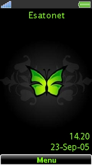 Green butterfly Aino  theme