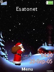 Santa is coming W910  theme