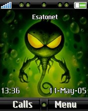 Green Monster W810  theme