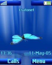 Falling Butterfly W810  theme
