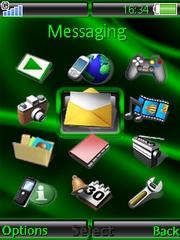 Green theme for Sony Ericsson G502