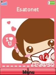 Cute Love W910  theme