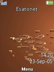 Brown droplet W910  theme