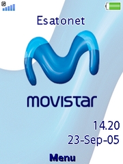 Movistar theme for Sony Ericsson G705