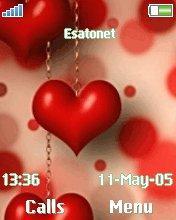 Love heart W810  theme