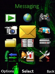 Green beam theme for Sony Ericsson Cedar