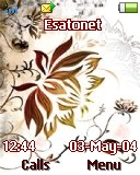 Paintet leaves K510 / K510i theme