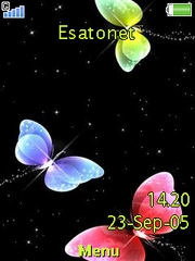 Coloured butterflies W890  theme