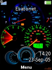 Speedometer theme for Sony Ericsson W715