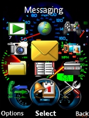 Speedometer theme for Sony Ericsson W995