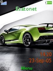 Lamborgini theme for Sony Ericsson Yari