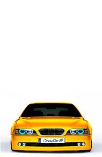 BMW yellow back